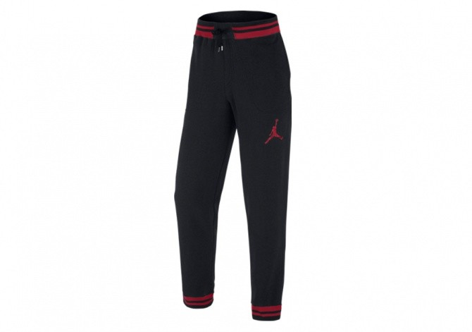 NIKE AIR JORADAN THE VARSITY SWEATPANTS BLACK GYM RED