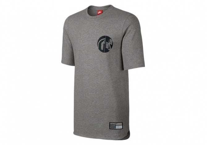 NIKE AIR PIVOT V3 SS TOP GREY HEATHER