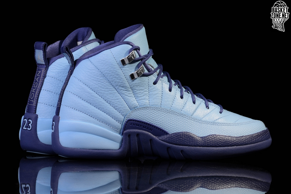 sale retailer b8e67 3df31 NIKE AIR JORDAN 12 RETRO NORTH CAROLINA TAR HEELS BG (SMALLER SIZES)