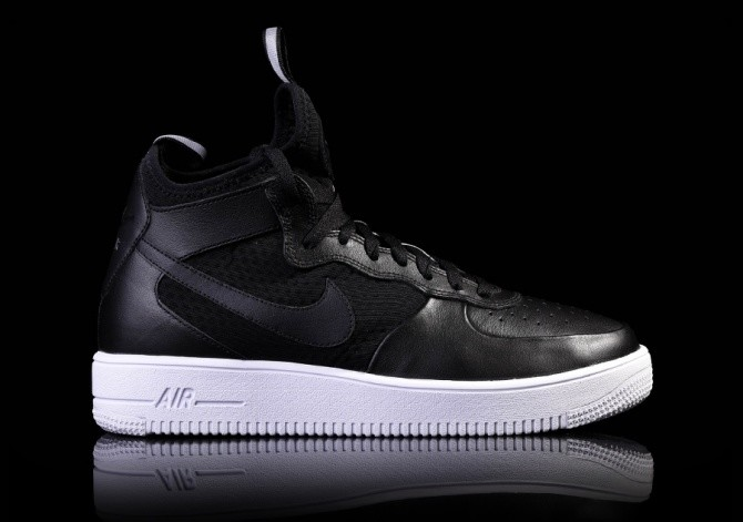 NIKE AIR FORCE 1 ULTRAFORCE MID BLACK-WHITE