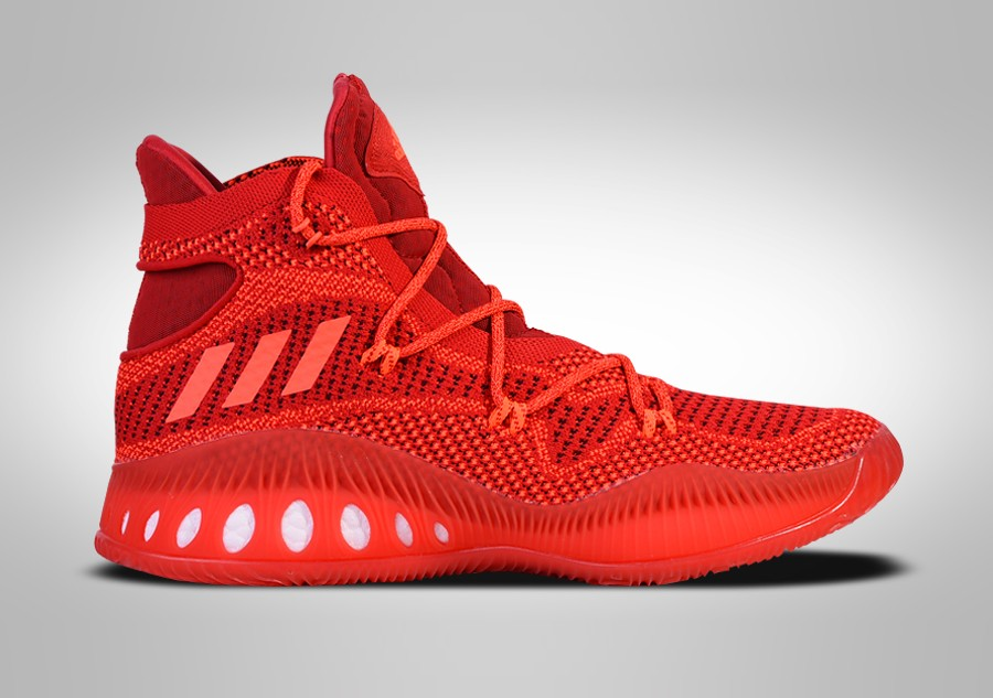 cheap for discount 274a0 325a9 ADIDAS CRAZY EXPLOSIVE PRIMEKNIT SOLAR RED