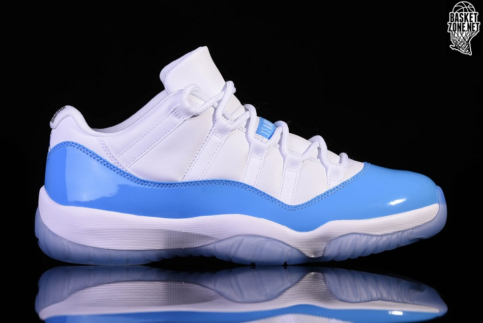 reputable site a0b19 dd200 NIKE AIR JORDAN 11 RETRO LOW UNC NORTH CAROLINA BLUE