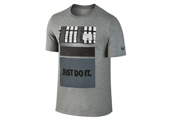 NIKE DRY CORE ART 2 BASKETBALL TEE DARK GREY HEATHER