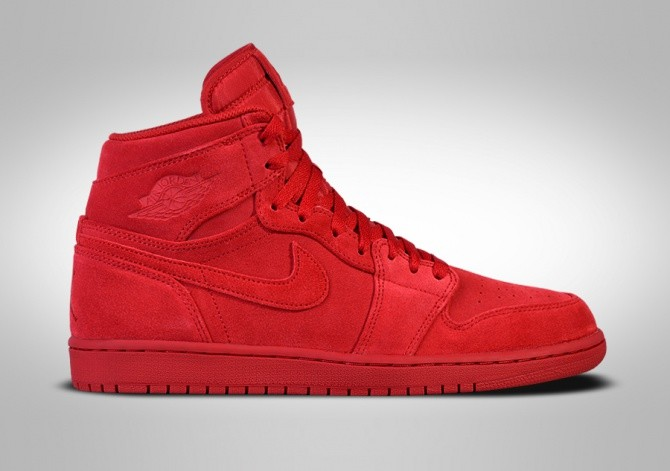 NIKE AIR JORDAN 1 RETRO HIGH RED SUEDE