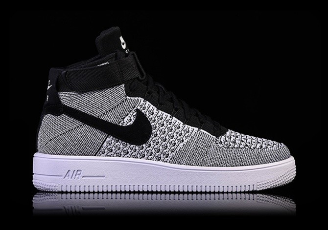 fc58233cbaee64 NIKE AIR FORCE 1 ULTRA FLYKNIT MID OREO pour €135,00   Basketzone.net