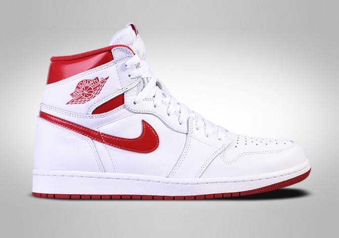 super popular aabf2 d16bd NIKE AIR JORDAN 1 RETRO HIGH OG METALLIC RED