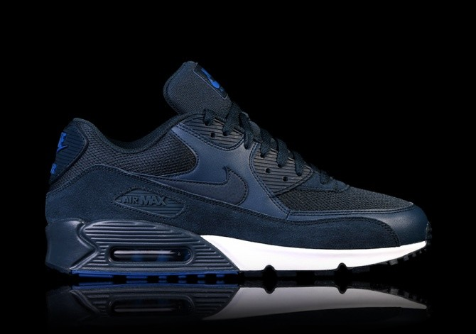 finest selection 690a2 aea6e NIKE AIR MAX 90 ESSENTIAL NAVY BLUE