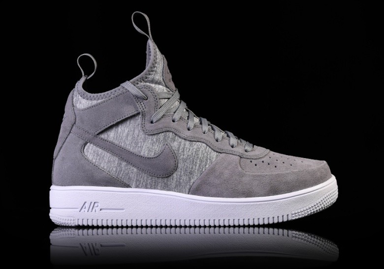 designer fashion bae74 e7d3e NIKE AIR FORCE 1 ULTRAFORCE MID PRM COOL GREY