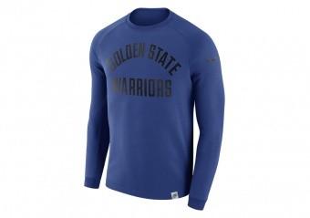 NIKE NBA GOLDEN STATE WARRIORS CREW RUSH BLUE