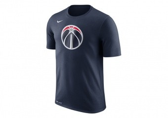 NIKE NBA WASHINGTON WIZARDS DRY TEE LOGO COLLEGE NAVY