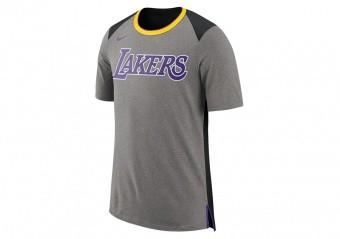 NIKE NBA LOS ANGELES LAKERS TOP FAN DK GREY HEATHER