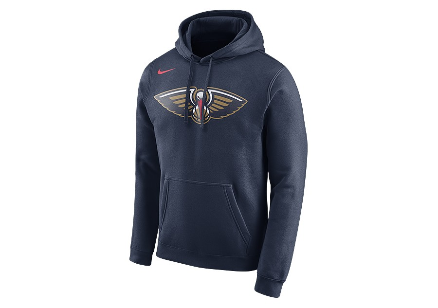 save up to 80% new york amazon NIKE NBA NEW ORLEANS PELICANS CLUB LOGO HOODIE COLLEGE NAVY ...