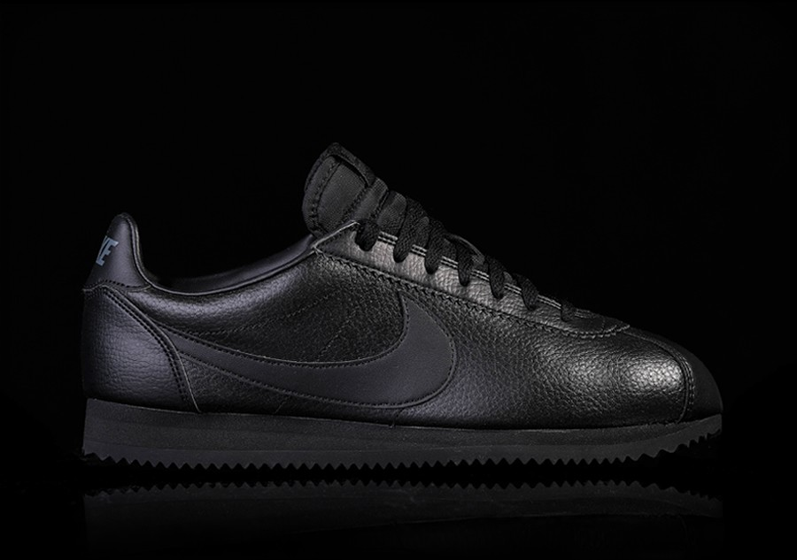 newest a808e 0dda5 NIKE CLASSIC CORTEZ LEATHER BLACK price €77.50  Basketzone.n