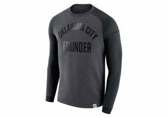 NIKE NBA OKLAHOMA CITY THUNDER MODERN CREW BLACK HEATHER