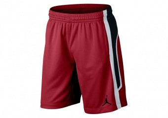 NIKE AIR JORDAN FLIGHT BASKETBALL SHORTS GYM RED