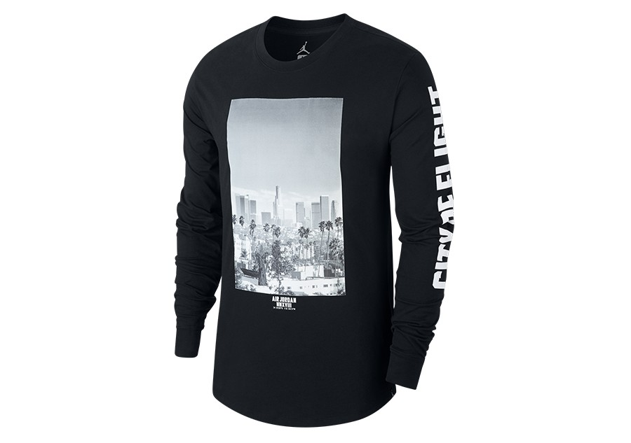 b1c235c8108e3c NIKE AIR JORDAN SPORTWEAR  CITY OF FLIGHT  PHOTO LONG-SLEEVE TEE BLACK