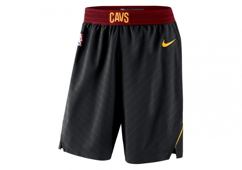 2f83a21e7ac NIKE CLEVELAND CAVALIERS STATEMENT EDITION AUTHENTIC SHORTS BLACK ...