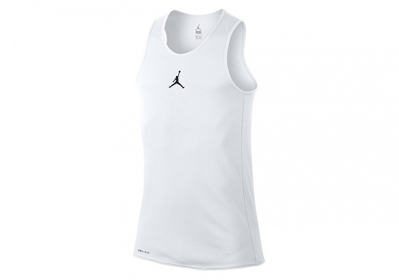 NIKE AIR JORDAN RISE DRI-FIT BASKETBALL TANK WHITE