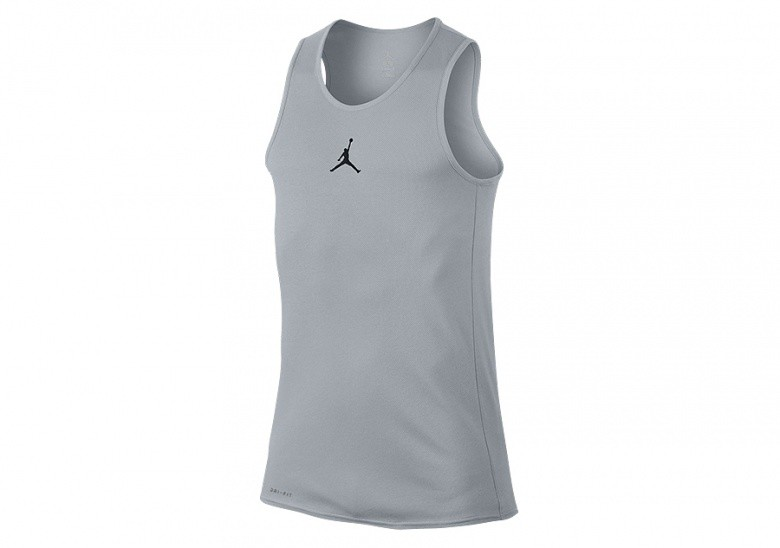 NIKE AIR JORDAN RISE DRI-FIT BASKETBALL TANK WOLF GREY