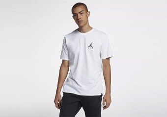 NIKE AIR JORDAN SPORTSWEAR JUMPMAN AIR EMBROIDERED TEE WHITE
