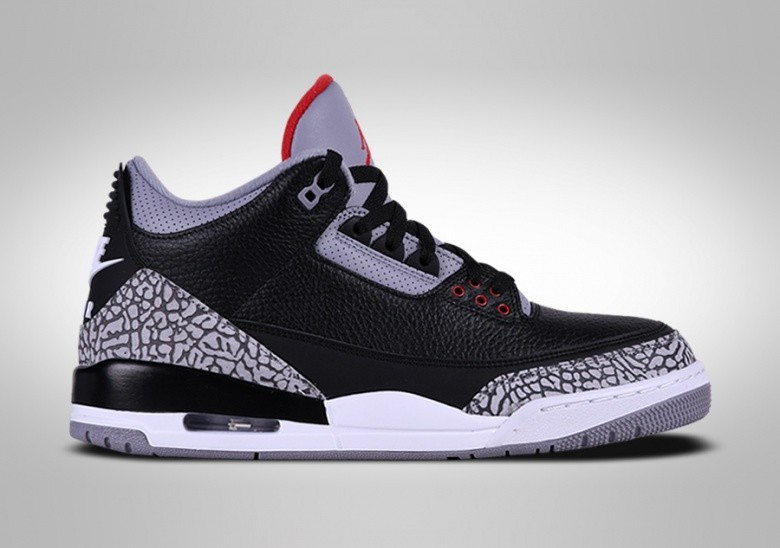 NIKE AIR JORDAN 3 RETRO BLACK CEMENT