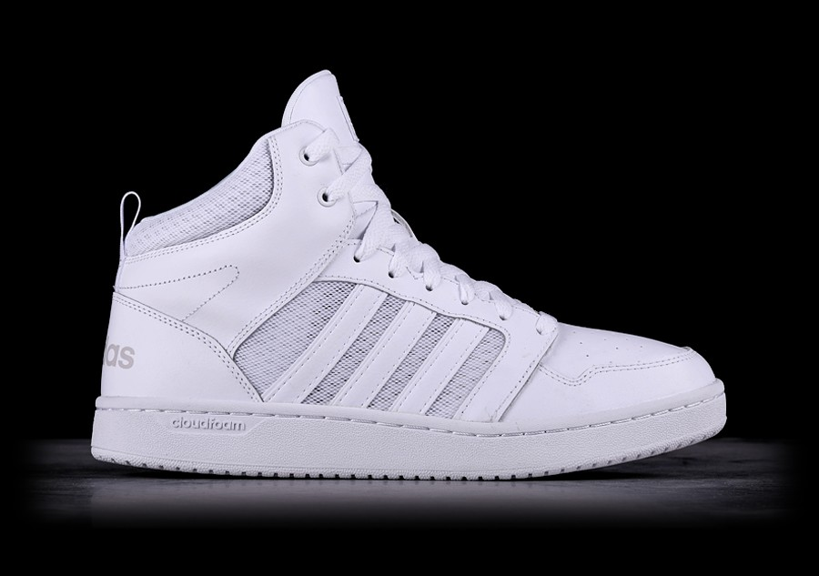 new products da6d2 41511 ADIDAS CLOUDFOAM SUPER HOOPS MID WHITE