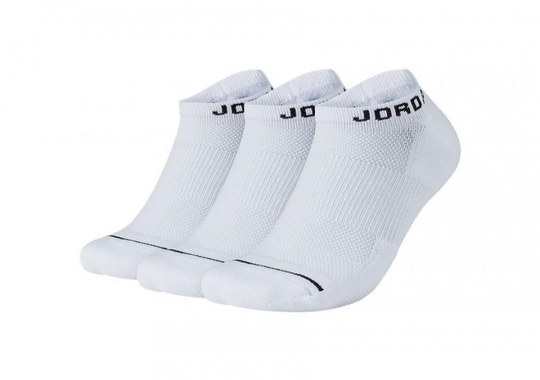 NIKE AIR JORDAN JUMPMAN NO-SHOW SOCKS WHITE