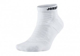 NIKE AIR JORDAN DRY FLIGHT 2.0 ANKLE SOCKS WHITE