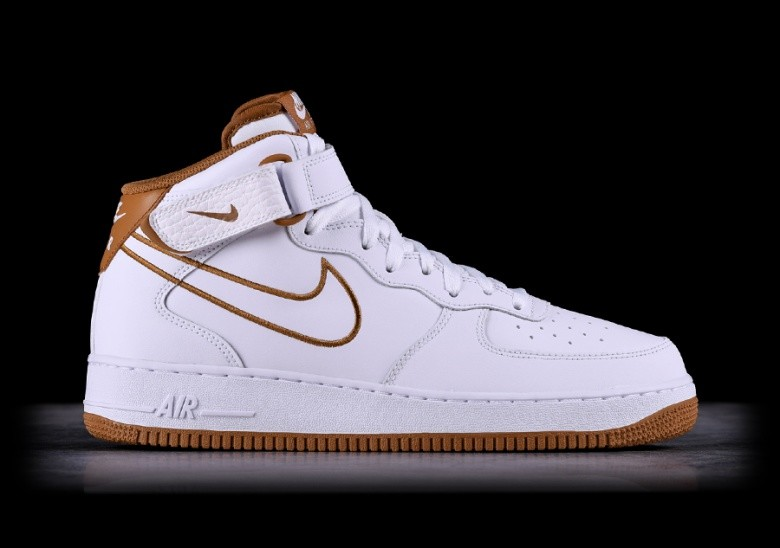 NIKE AIR FORCE 1 MID '07 LEATHER WHITE
