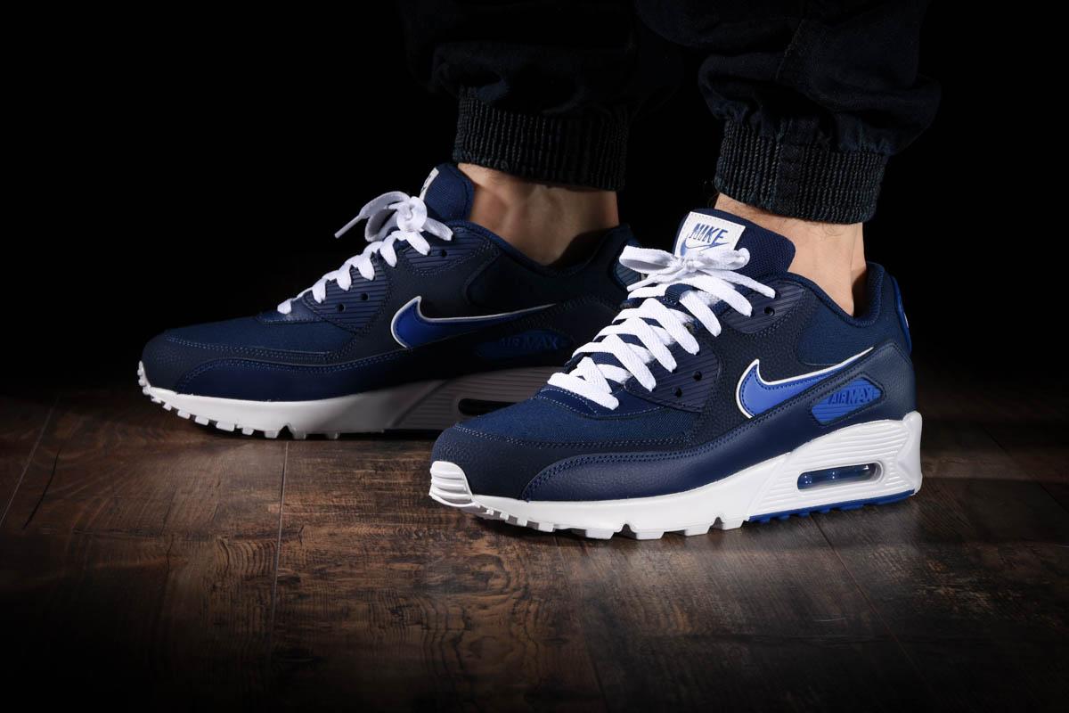 Details zu Nike Air Max 90 Leather Blue Void White Größe 43