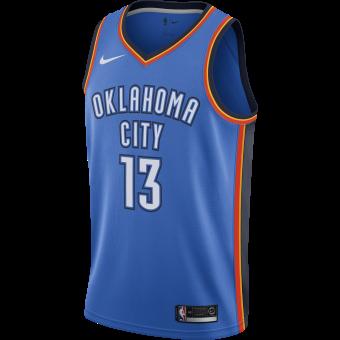 NIKE NBA OKLAHOMA CITY THUNDER PAUL GEORGE ROAD SWINGMAN JERSEY