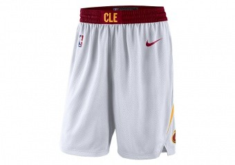 NIKE NBA CLEVELAND CAVALIERS SWINGMAN HOME SHORTS WHITE