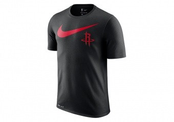 NIKE NBA HOUSTON ROCKETS SWOOSH DRY TEE BLACK