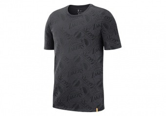 NIKE NBA LOS ANGELES LAKERS TEE ANTHRACITE