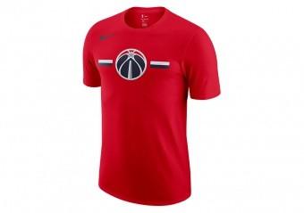 NIKE NBA WASHINGTON WIZARDS LOGO DRY TEE UNIVERSITY RED