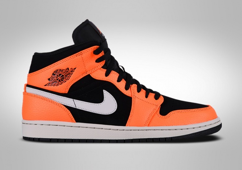 NIKE AIR JORDAN 1 RETRO MID BLACK ORANGE