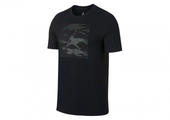 NIKE AIR JORDAN ICONIC 23/7 TEE BLACK