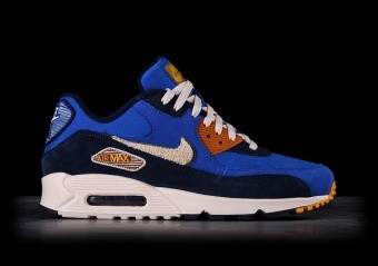 NIKE AIR MAX 90 PREMIUM SE GAME ROYAL & LIGHT CREAM