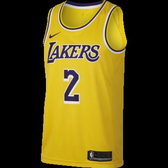 NIKE NBA LOS ANGELES LAKERS LONZO BALL SWINGMAN ROAD JERSEY