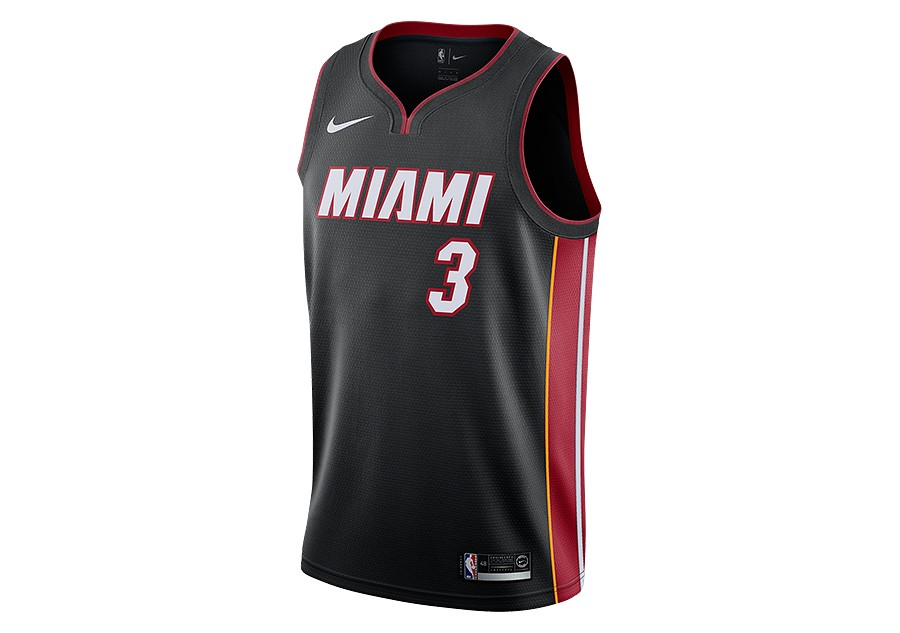 539f66705cb NIKE NBA MIAMI HEAT DWYANE WADE SWINGMAN ROAD JERSEY BLACK price €77.50
