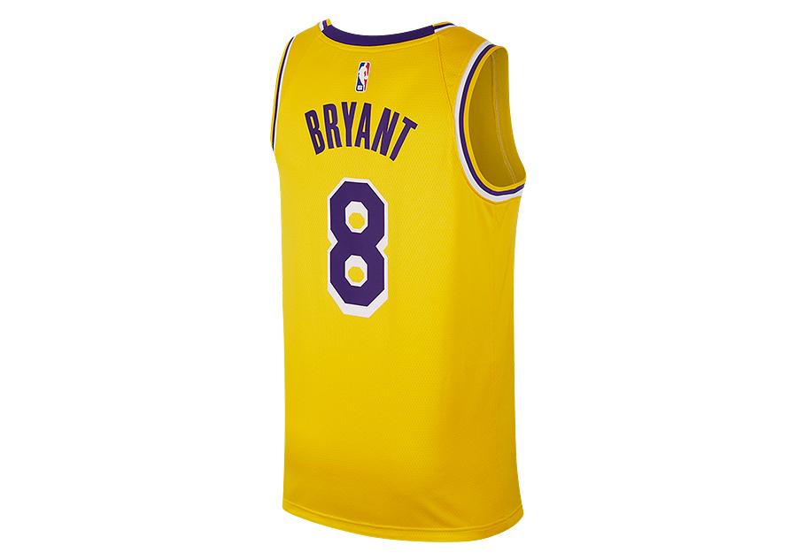 229390eb7 NIKE NBA LOS ANGELES LAKERS KOBE BRYANT SWINGMAN ROAD JERSEY AMARILLO