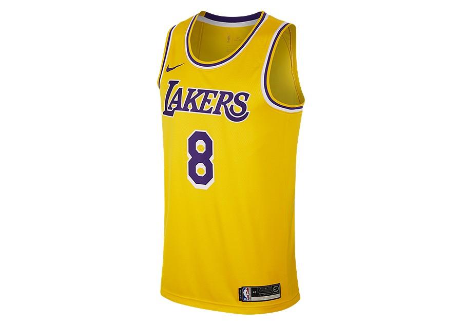 b23fef97c NIKE NBA LOS ANGELES LAKERS KOBE BRYANT SWINGMAN ROAD JERSEY AMARILLO pour  €92