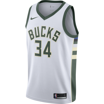NIKE NBA MILWAUKEE BUCKS GIANNIS ANTETOKOUNMPO SWINGMAN HOME JERSEY