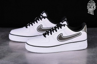 7b042a9d2d99 NIKE AIR FORCE 1  07 LV8 NBA SPORT PACK WHITE EDITION pour €109