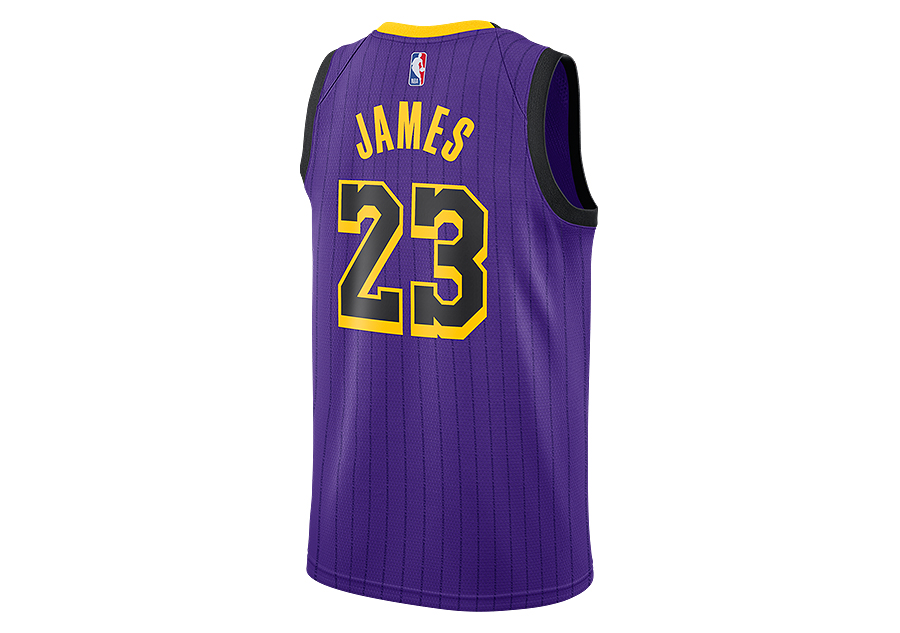 feaea074e72 NIKE NBA LOS ANGELES LAKERS LEBRON JAMES SWINGMAN JERSEY FIELD PURPLE