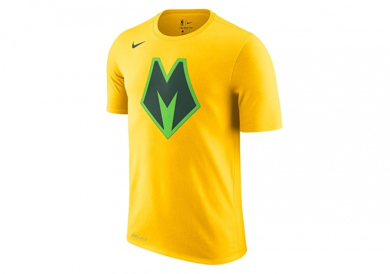 NIKE NBA MILWAUKEE BUCKS DRY TEE AMARILLO