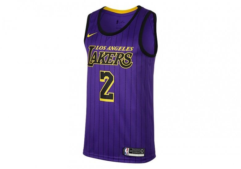 b275e3f4db16 NIKE NBA LOS ANGELES LAKERS LONZO BALL SWINGMAN JERSEY FIELD PURPLE ...