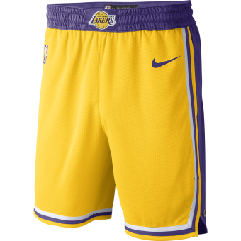 NIKE NBA LOS ANGELES LAKERS SWINGMAN ROAD SHORTS