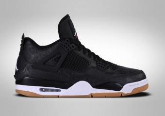 best website 8daca 4c3e7 SCARPE DA BASKET. NIKE AIR JORDAN 4 RETRO BLACK LASER