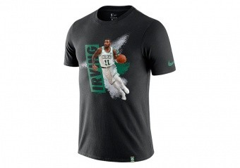 NIKE NBA BOSTON CELTICS KYRIE IRVING DRY TEE BLACK